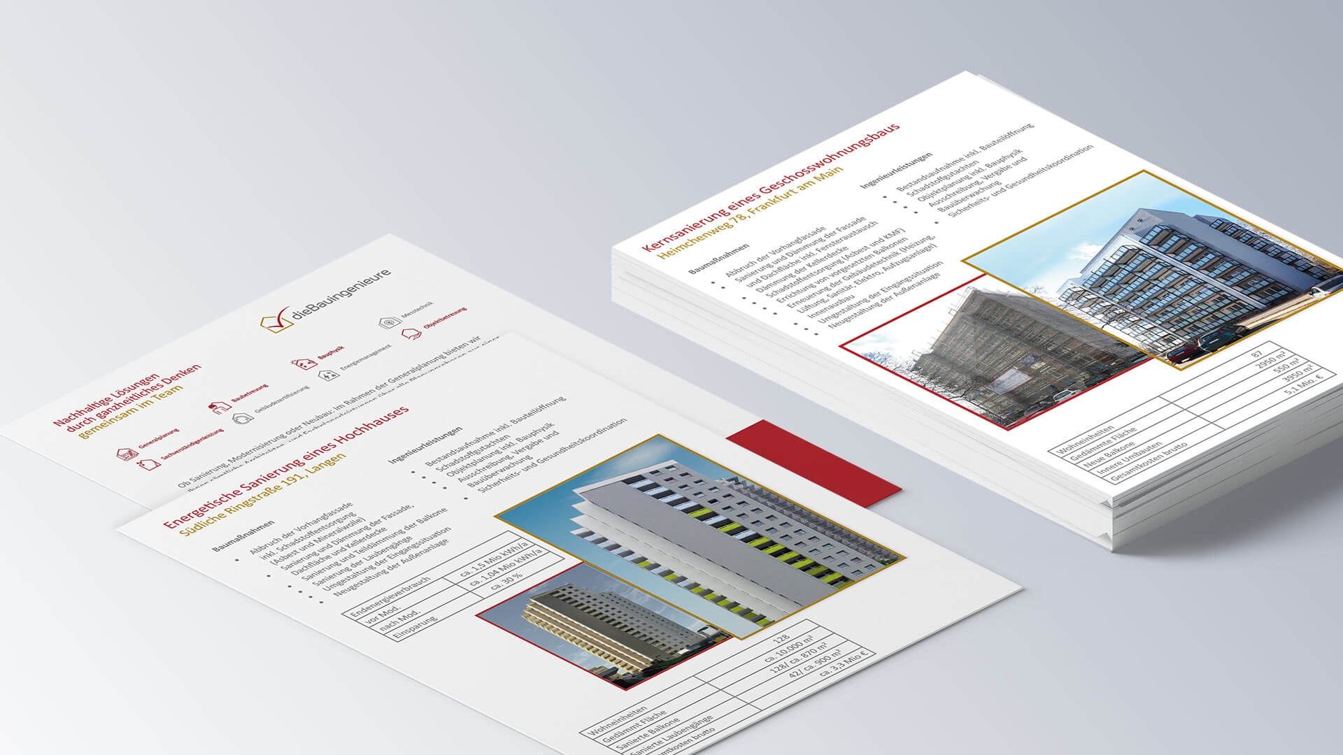 dieBauingenieure Infoblätter Referenzblätter