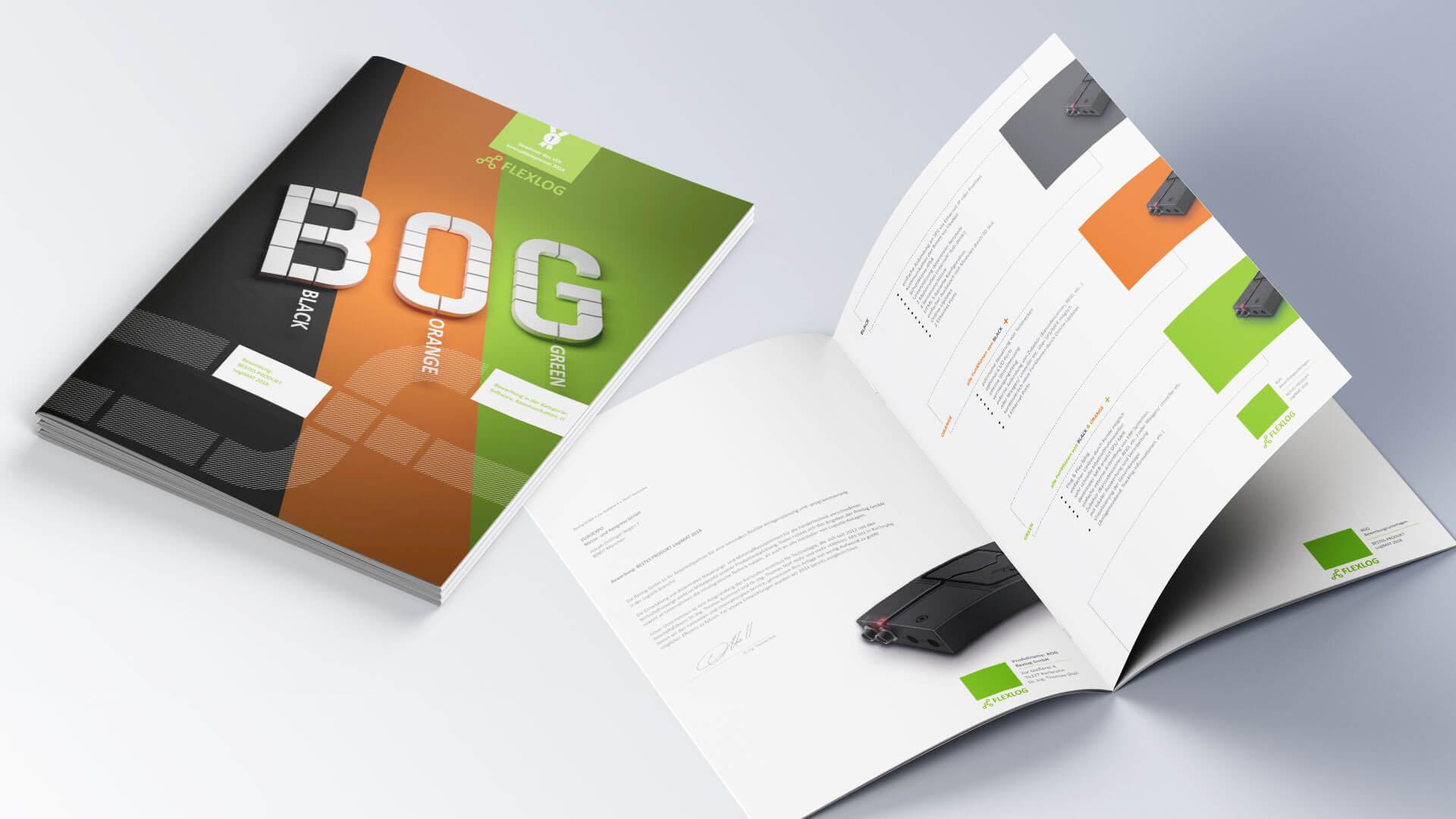 Flexlog Folder Produktfolder Broschüre
