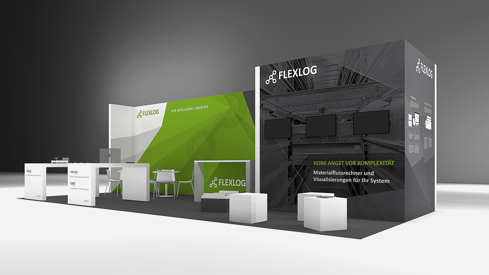 Flexlog Messestand 3D