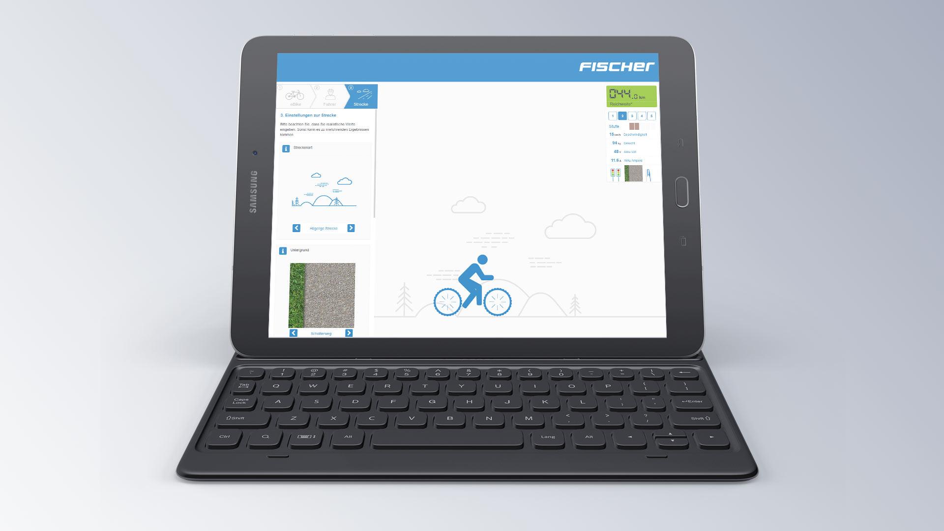 Fischer Konfigurator Reichweite eBike Browseransicht