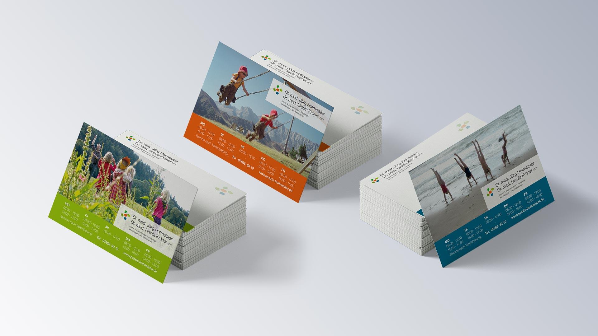 Praxis Dr. Jörg Hofmeister Kinderarzt Denzlingen Karten Postkarten
