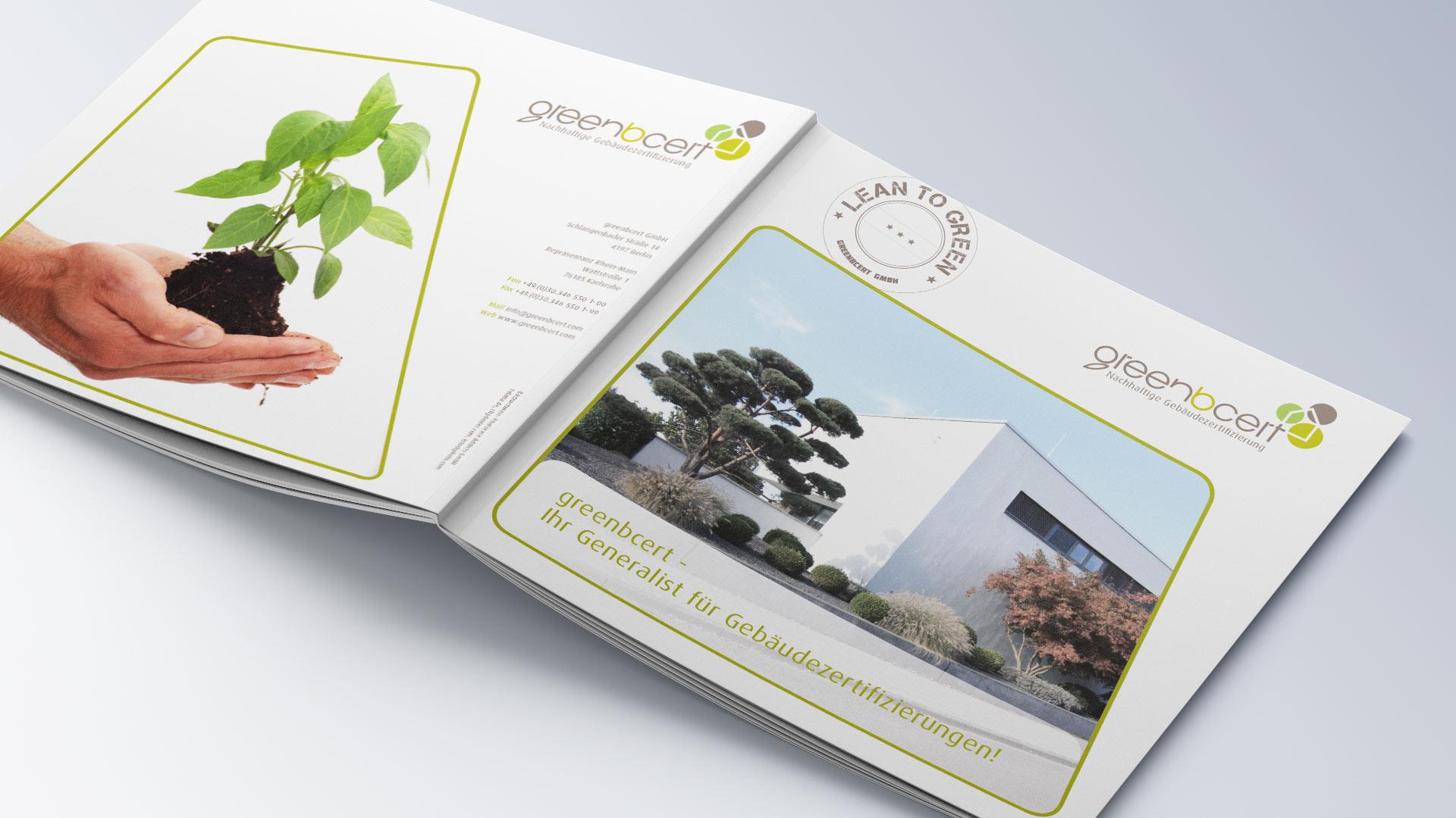 greenbcert Broschüre