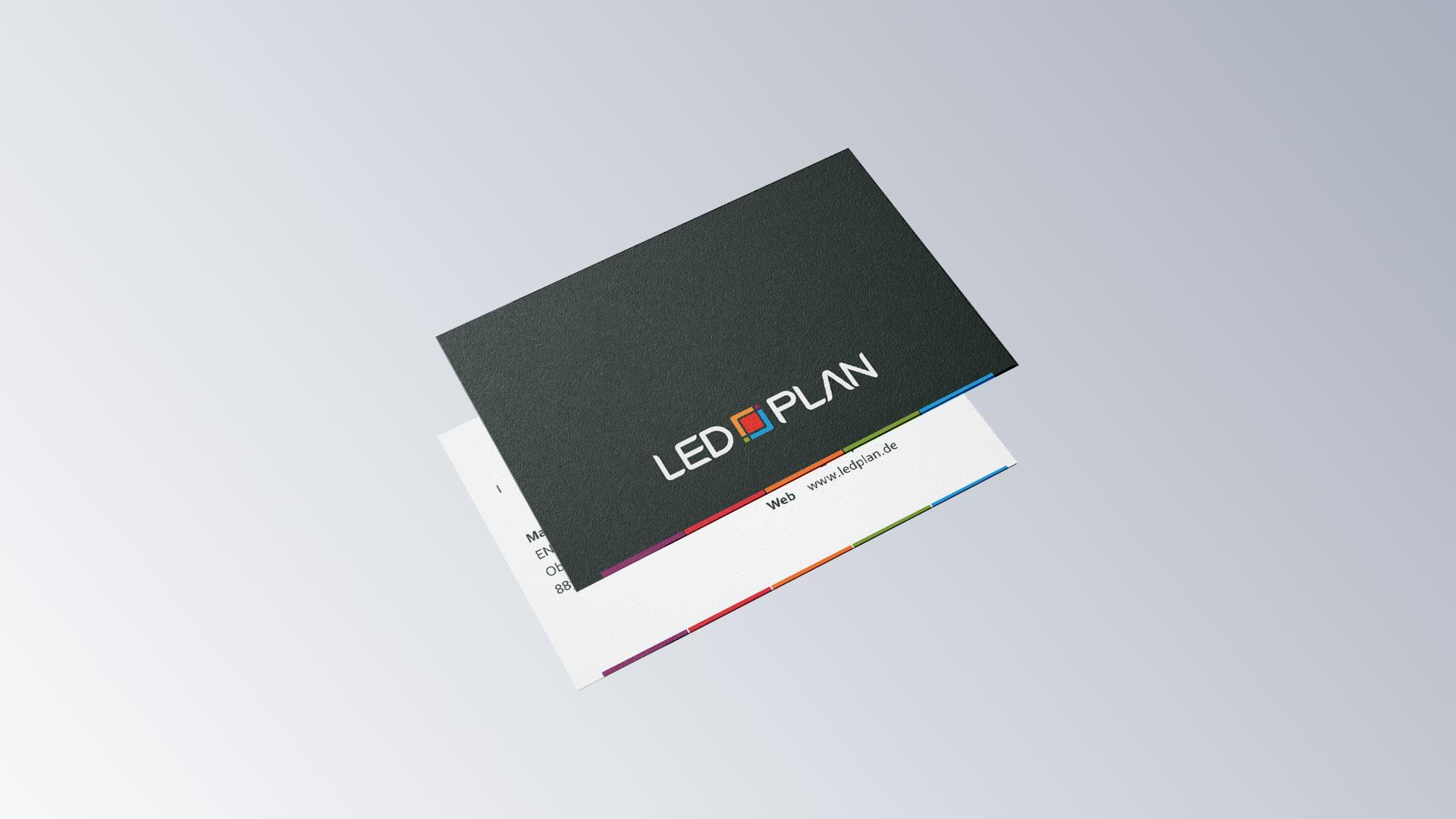 LED-Plan Leuchtmittel Visitenkarten