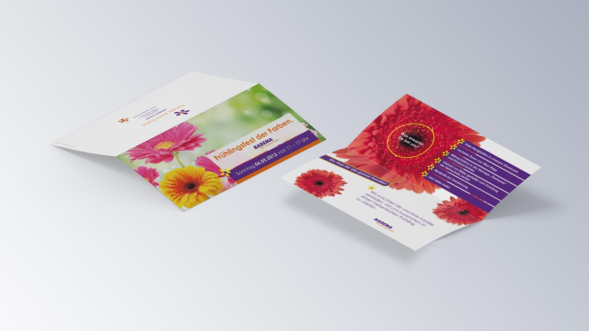 Badema Die Malermeister Folder Flyer