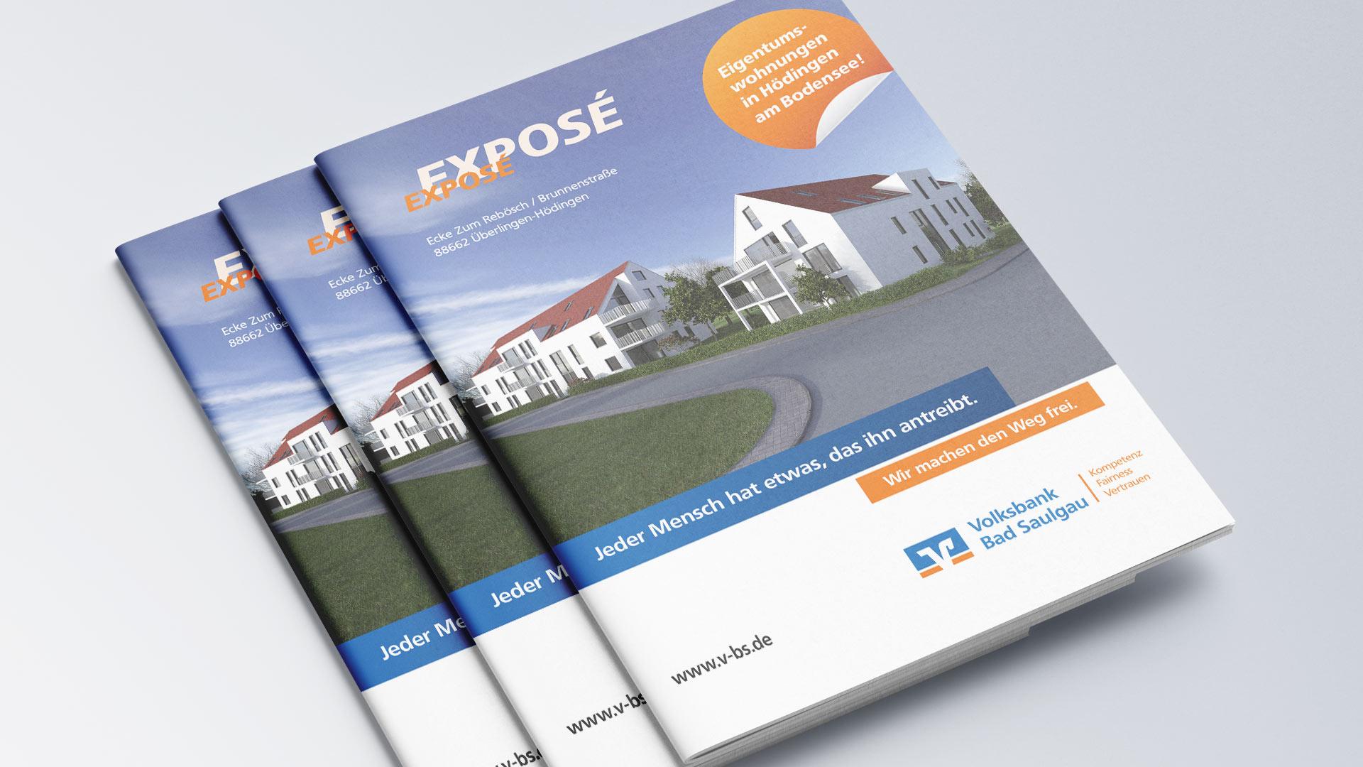 Volksbank Bad Saulgau Exposé Broschüre Immobilien 3D