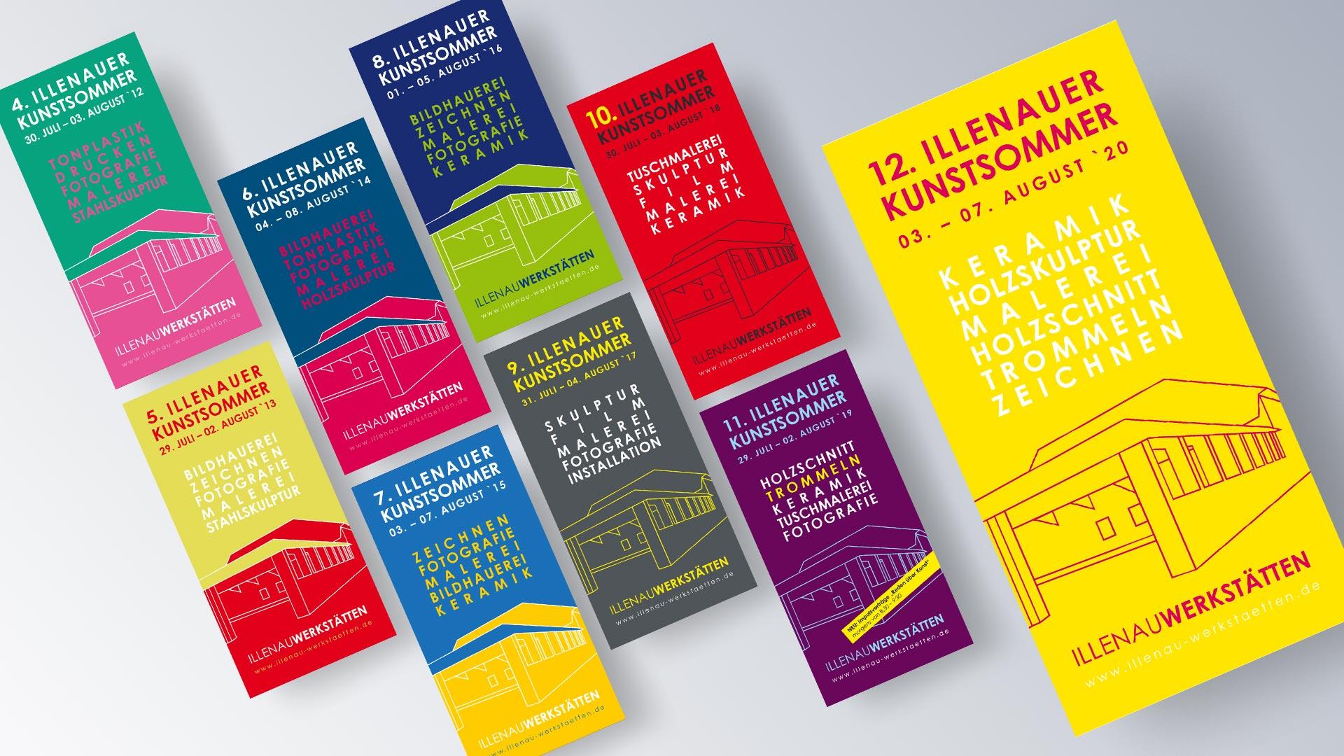 Illenau-Werkstätten e.V. Achern Illenauer-Kunstsommer Programm Flyer Folder