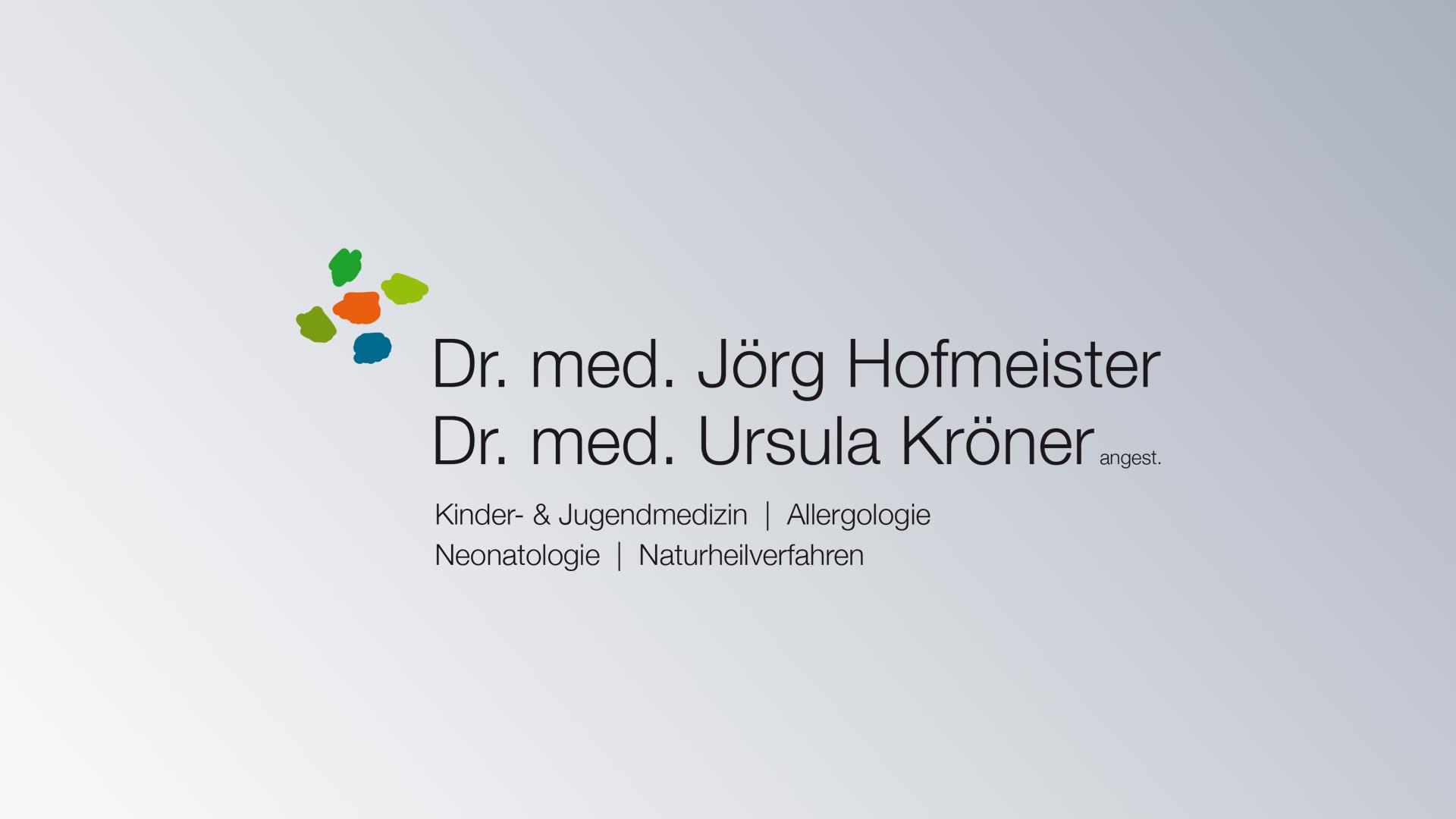 Dr. med. Jörg Hofmeister Dr. med. Ursula Kröner Kinderarzt Denzlingen Logo Logorelaunch