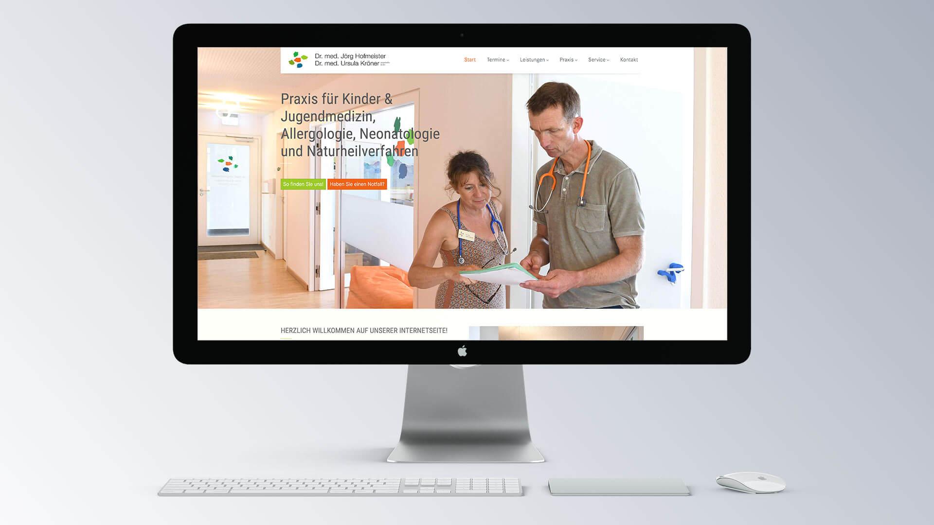 Praxis Dr. Jörg Hofmeister Kinderarzt Denzlingen Webansicht