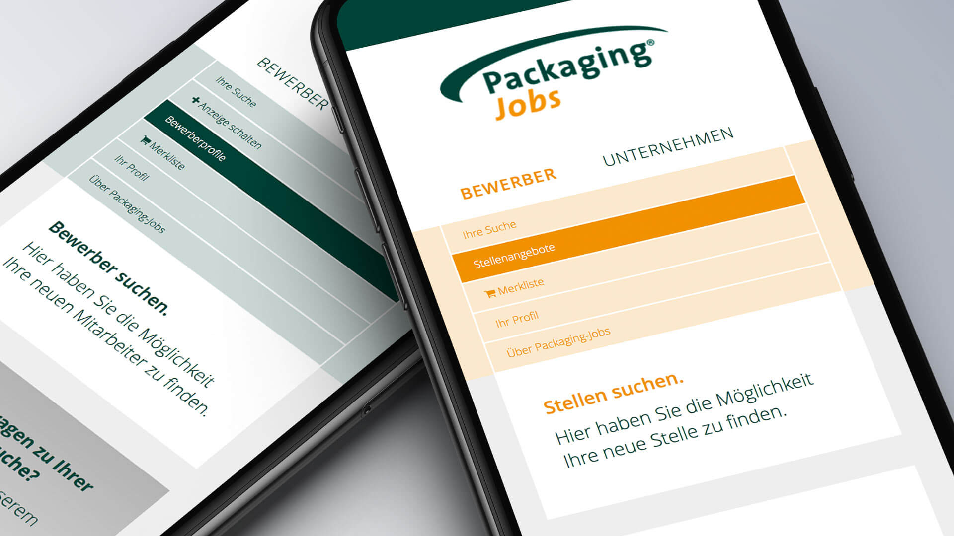 Packaging Jobs mobile Ansicht