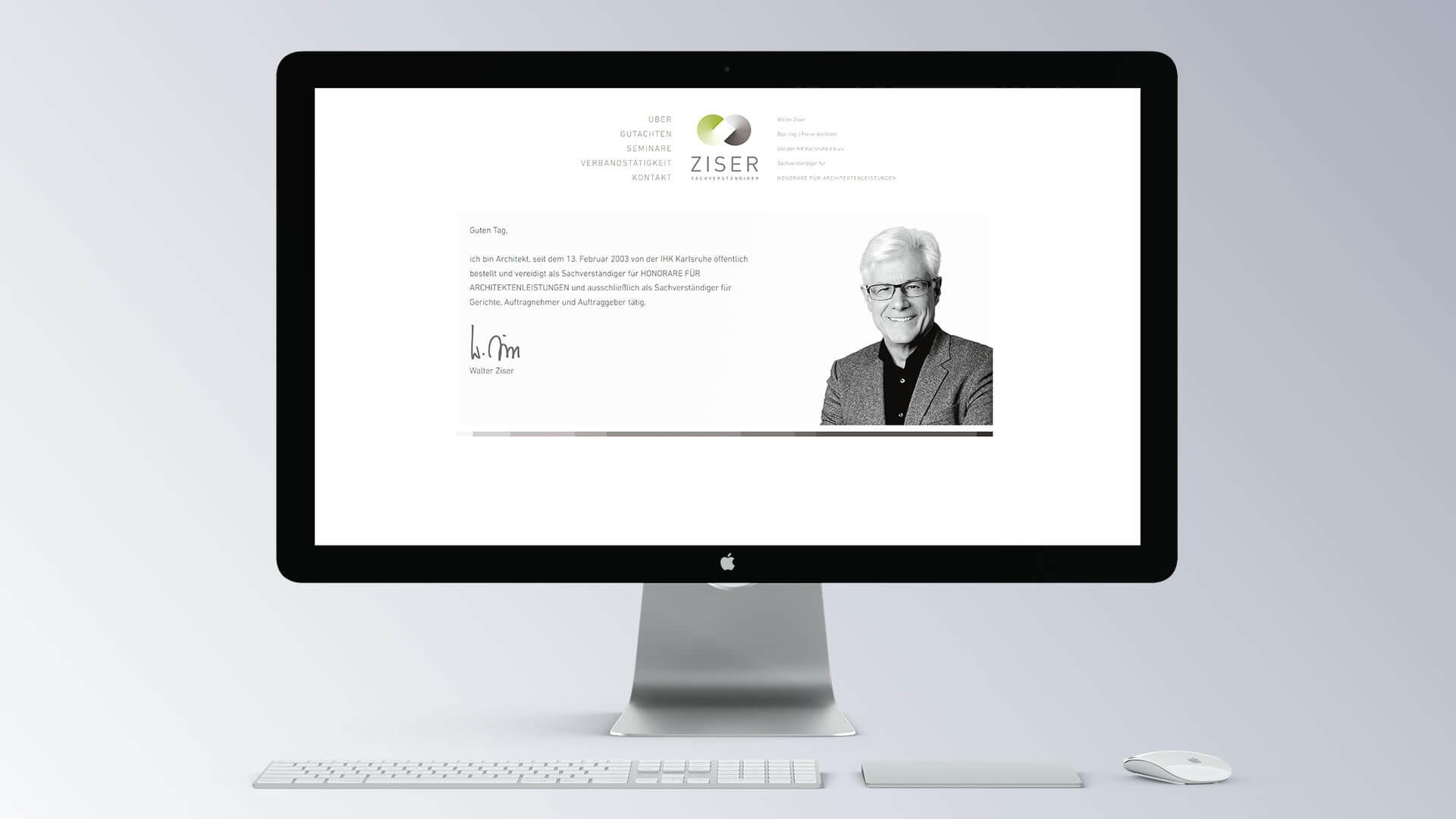 Walter Ziser Browser Ansicht