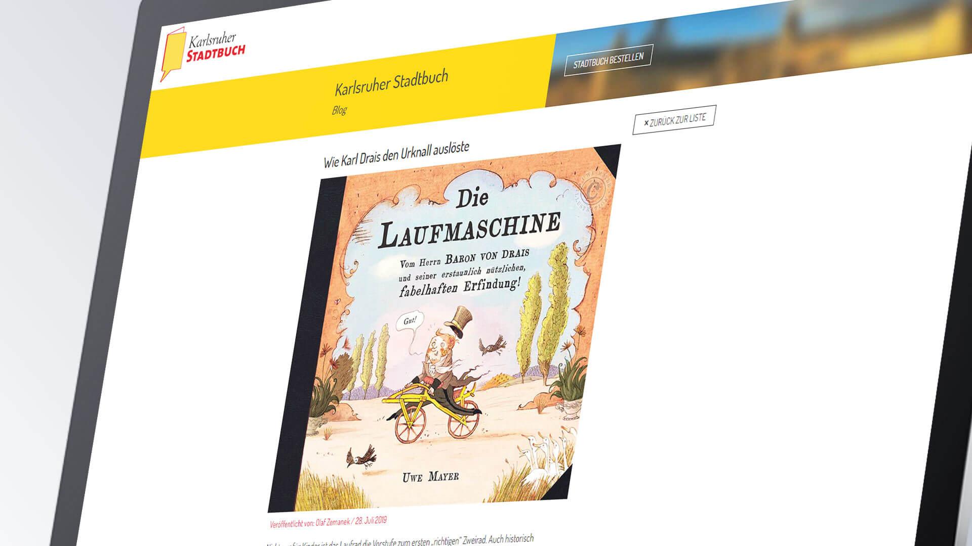 Karlsruher Stadtbuch Internetseite
