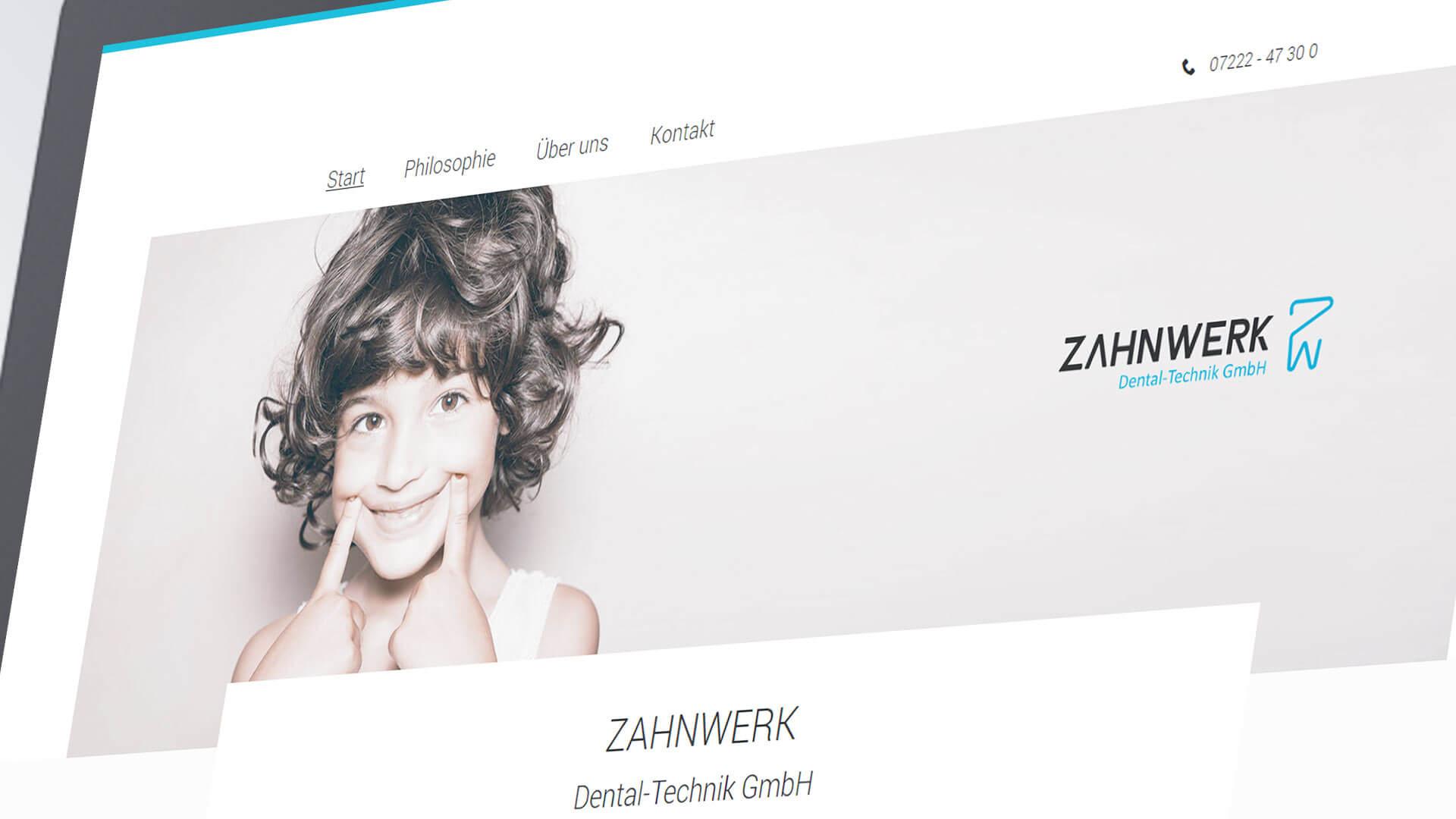 Zahnwerk Internetseite