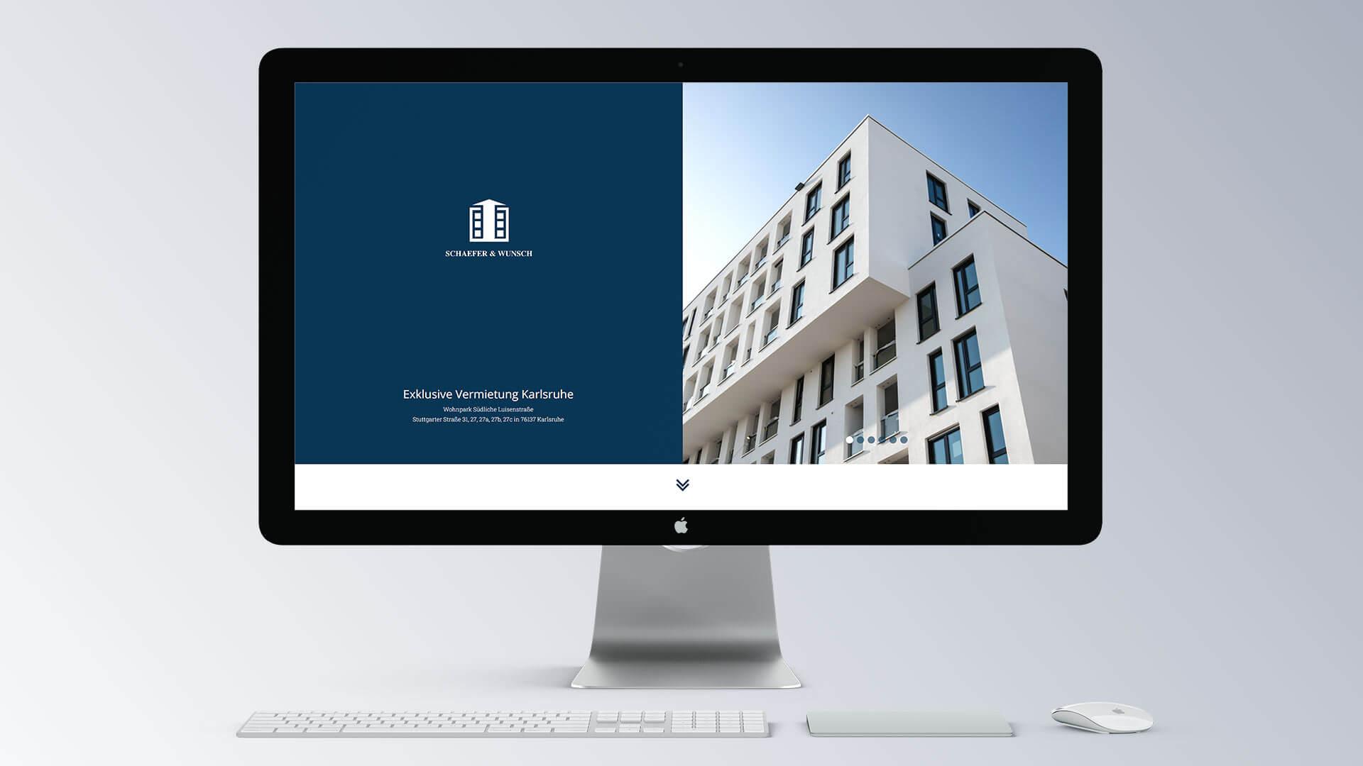 Schäfer & Wunsch Immobilien Internetseite