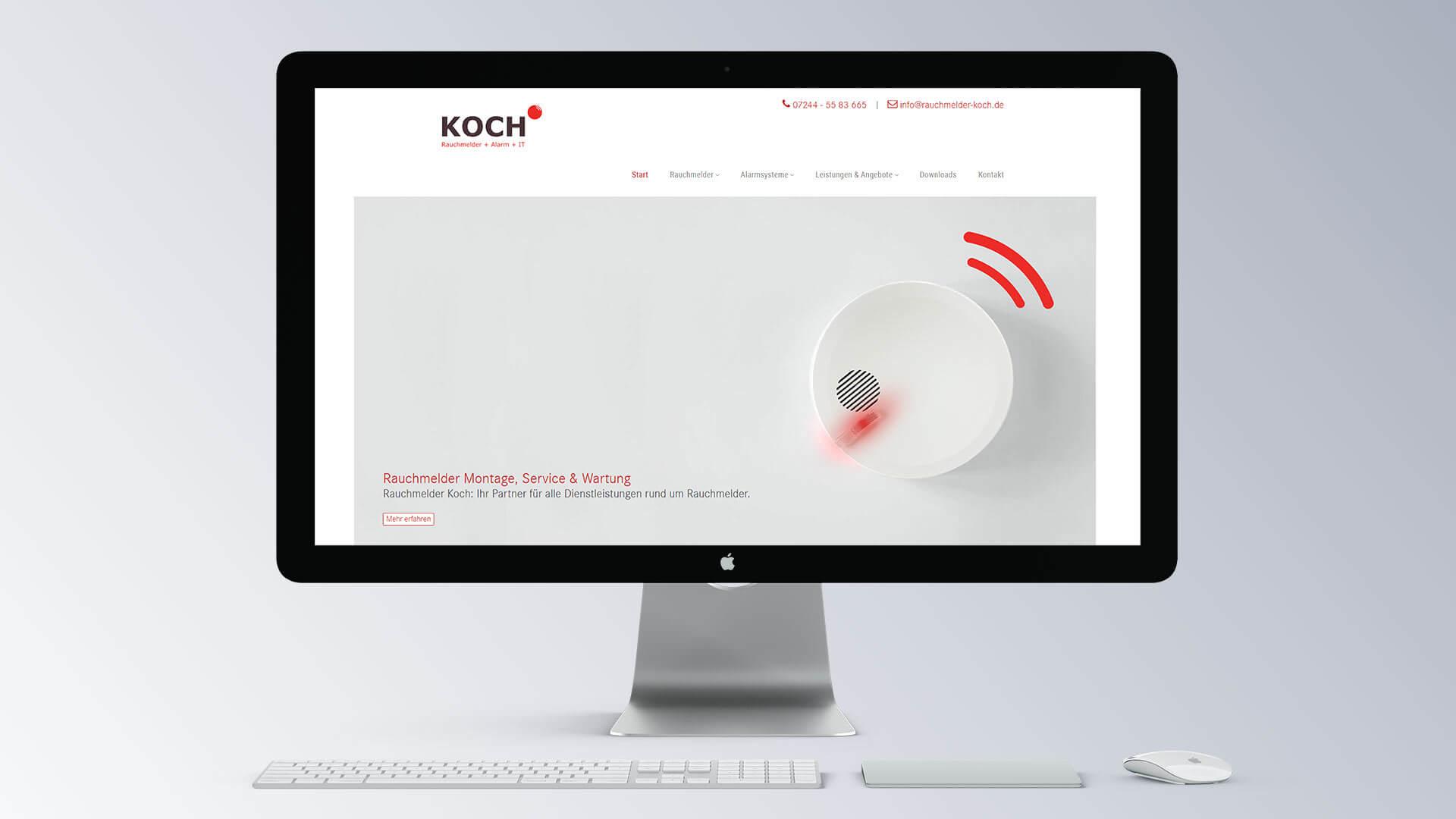 Rauchmelder Koch Internetseite