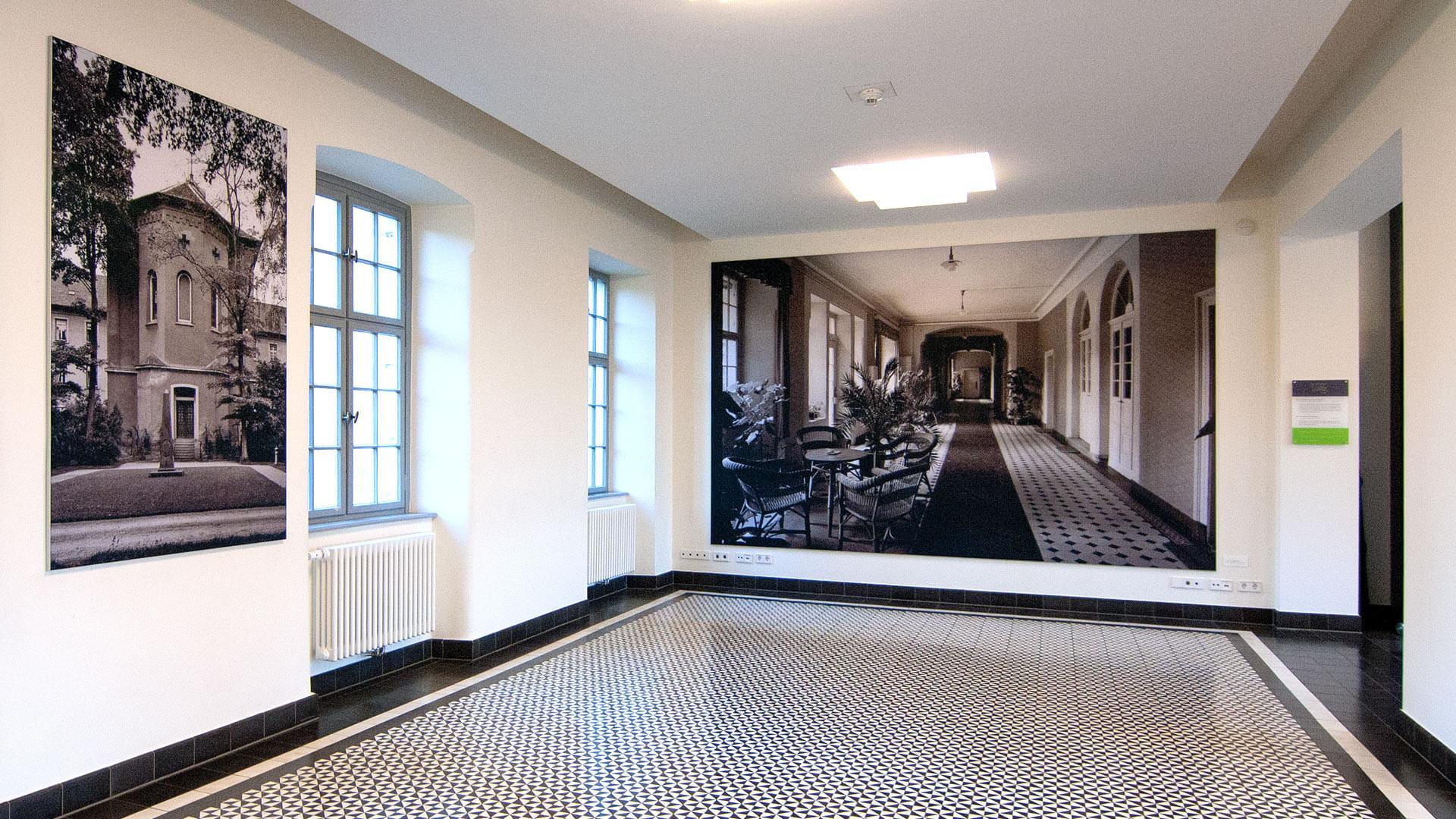 Illenau Arkaden Museum Achern Foyer Bildkonzept