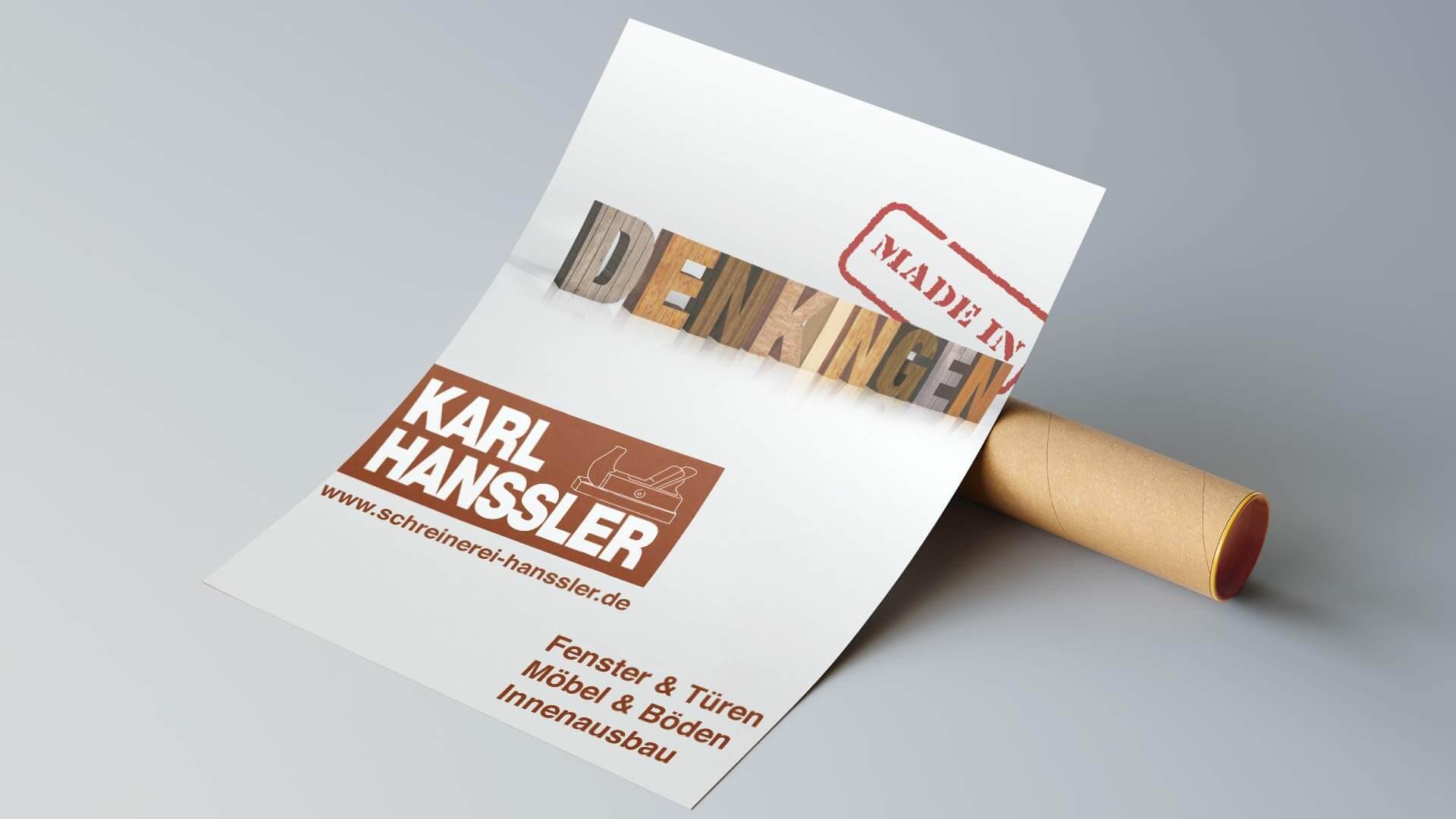 Plakat Schreinerei Hanssler