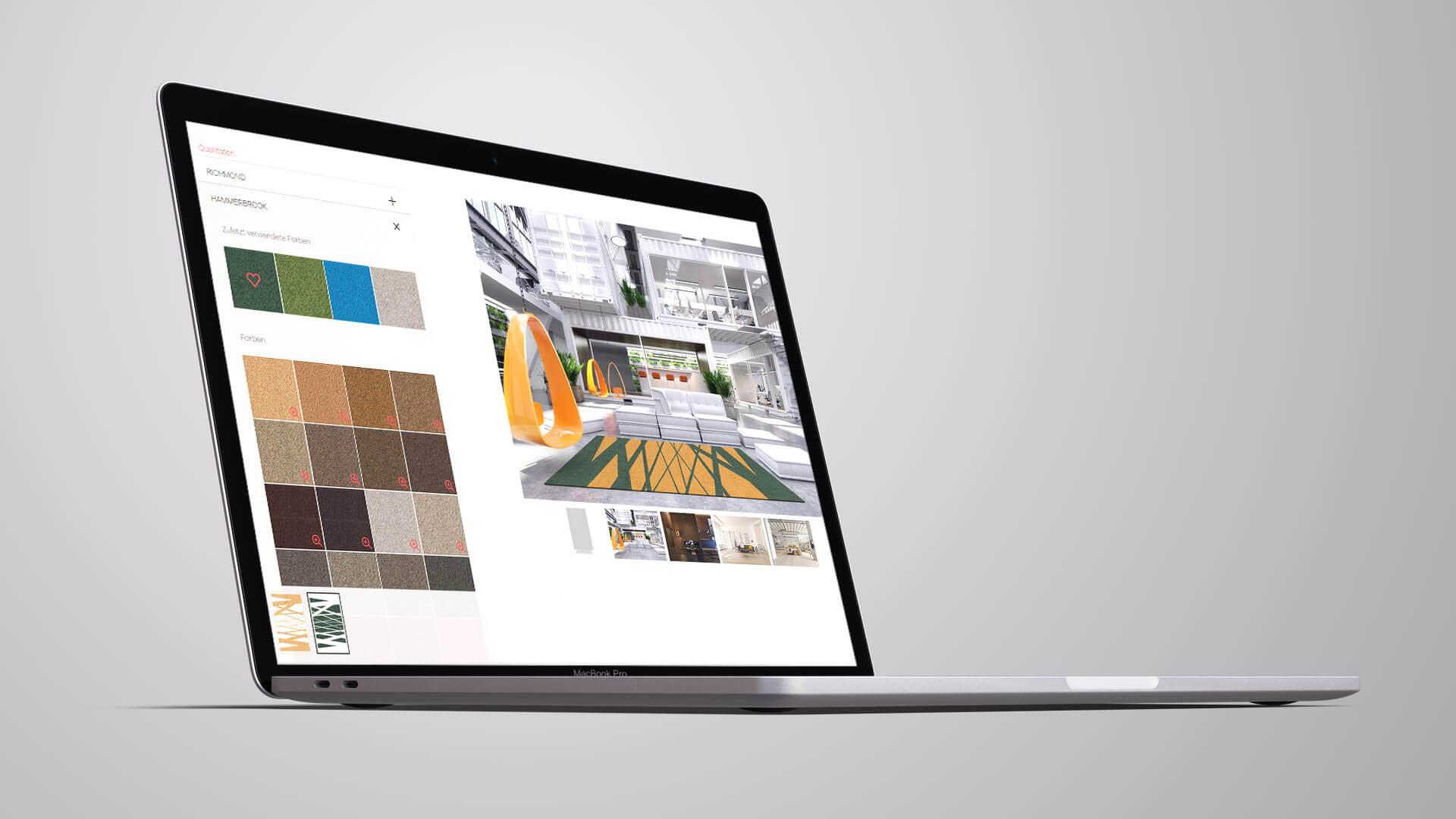 German Rugs Teppichkonfigurator Internetseite Browseransicht