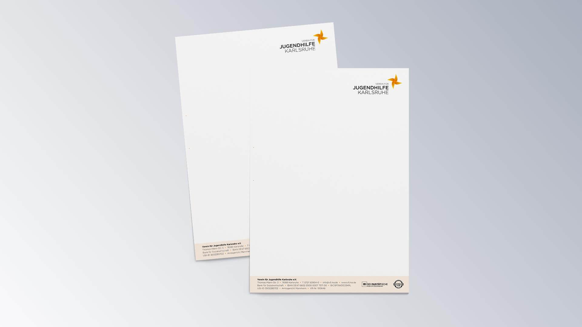 Verein für Jugendhilfe Karlsruhe e.V. Briefbogen