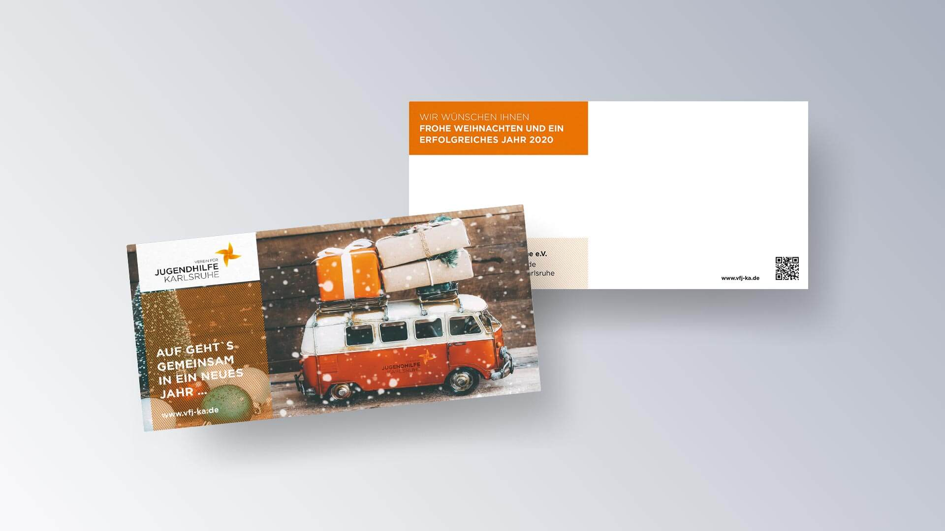 Verein für Jugendhilfe Karlsruhe e.V. Flyer Karte Weihnachtskarte