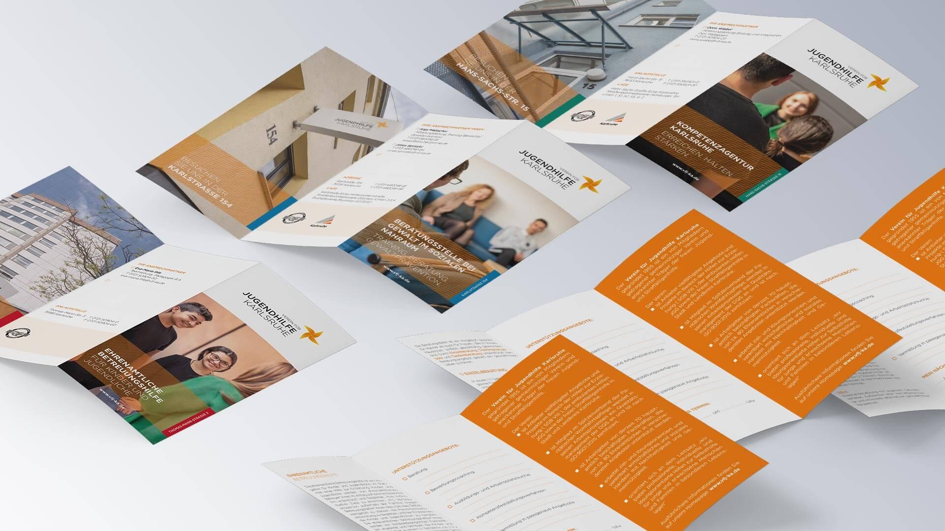 Verein für Jugendhilfe Karlsruhe e.V. Folder Flyer