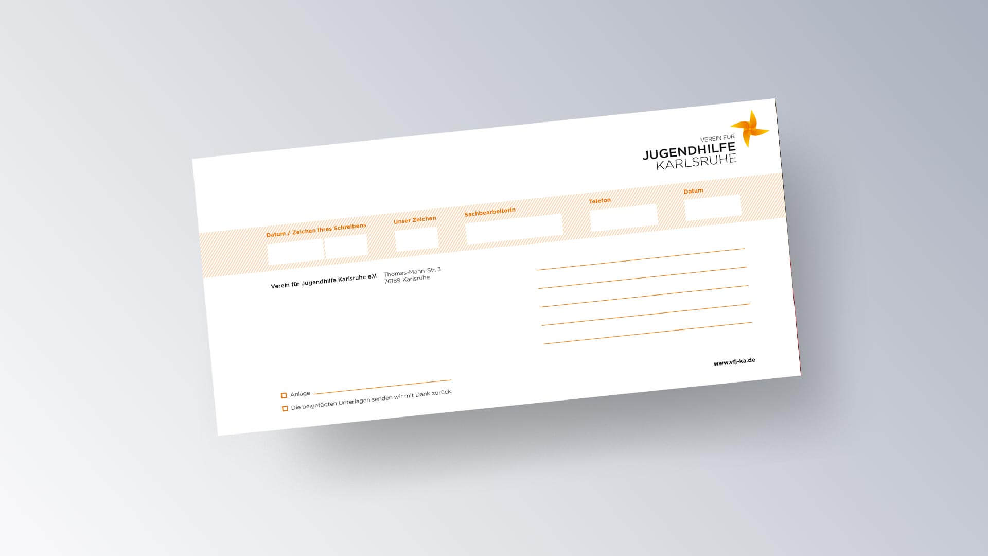 Verein für Jugendhilfe Karlsruhe e.V. Flyer Kurzbrief